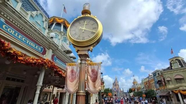 Magic Kingdom clock gets 50th Anniversary Makeover 3
