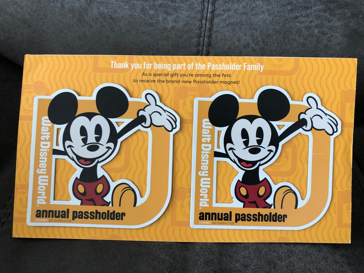 New Disney World Annual Passholder Magnets are being mailed out now