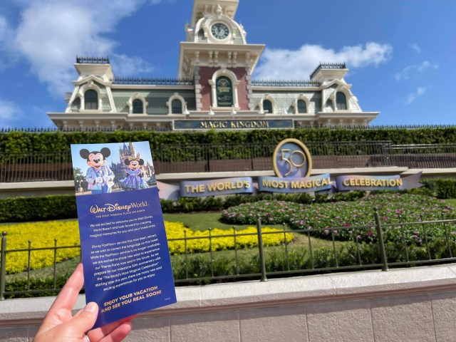 Disney handing out information about upcoming fastpass changes 2