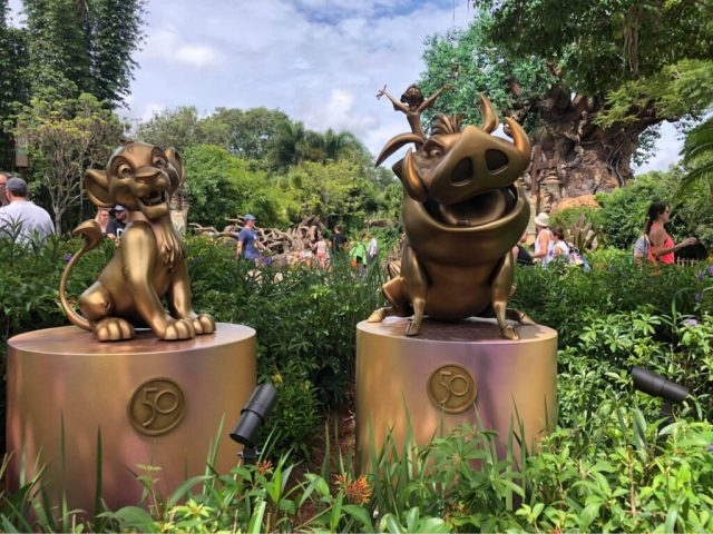 Disney Fab 50 statues now on display in Animal Kingdom 1