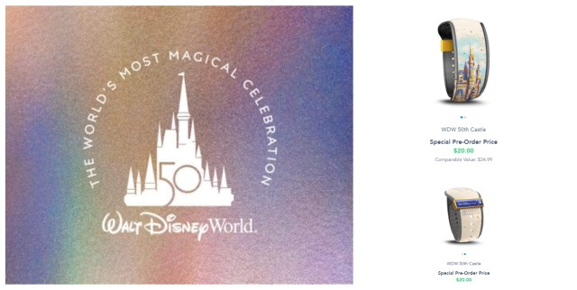 Special 50th Anniversay Magic Band now available for Resort Guests and Annual Passholders 1