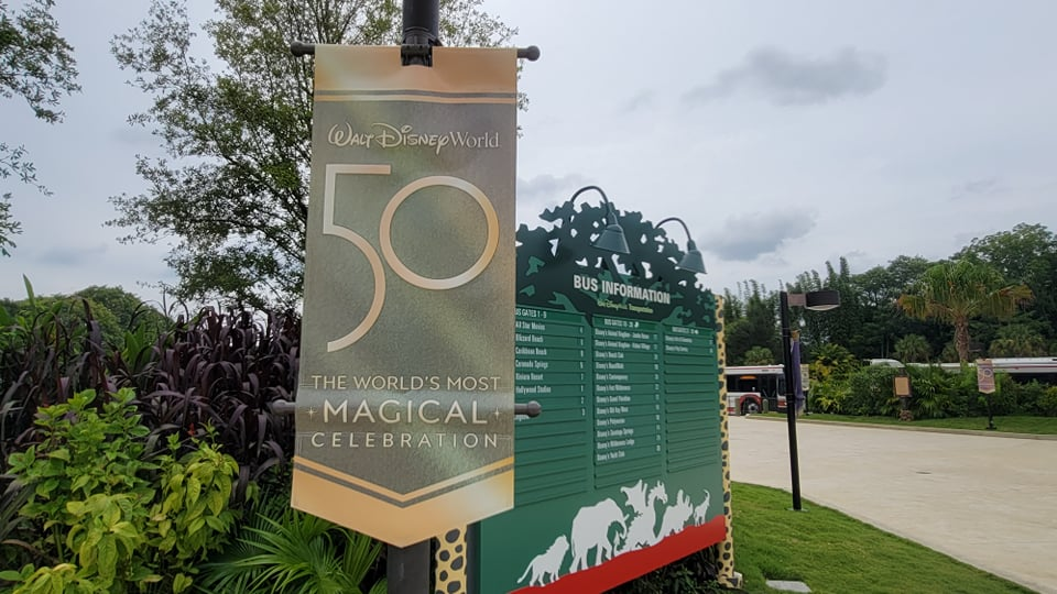 50th Anniversary Banners Now on Display in Disney's Animal Kingdom 5