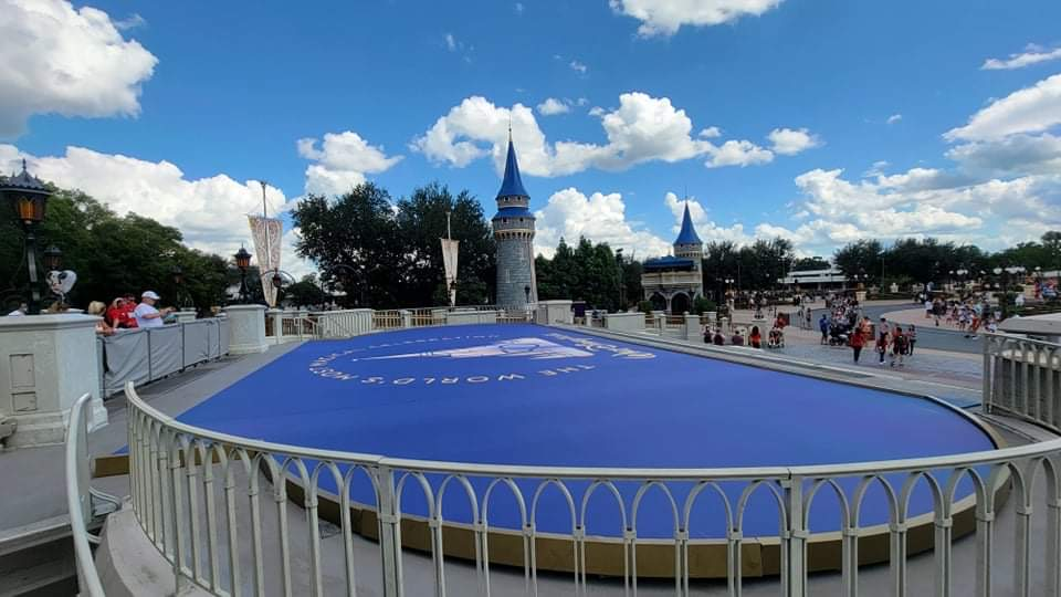 Magic Kingdom's 50th Anniversary Stage being built ahead of Anniversary 3