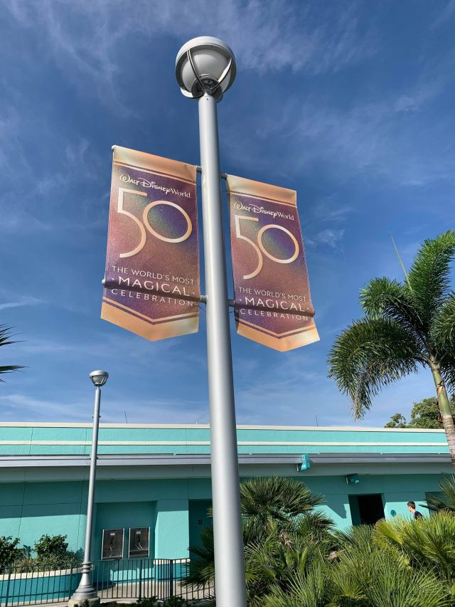 Disney World 50th Anniversary Banners Now Up at Hollywood Studios 2
