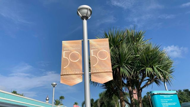 Disney World 50th Anniversary Banners Now Up at Hollywood Studios 1