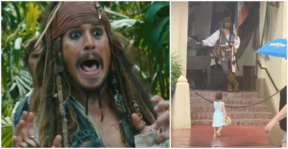 Video: Little Girl Left Scared After Meeting Captain Jack Sparrow