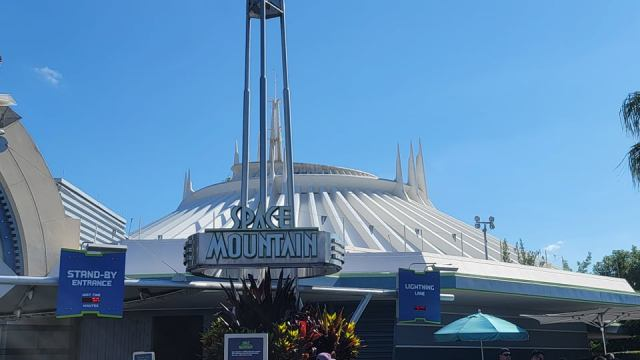 Space Mountain Exterior Being Cleaned for the 50th Anniversary 5