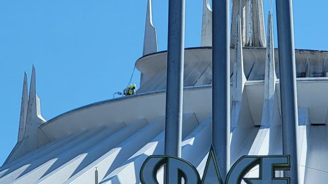 Space Mountain Exterior Being Cleaned for the 50th Anniversary 4
