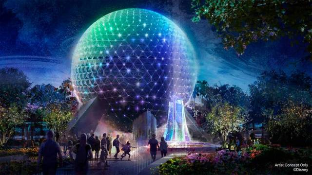 First look at new Spaceship Earth 'Beacons of Magic' Lighting in Epcot 2