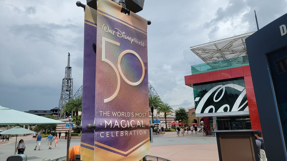 Disney World 50th Anniversary Banners now up at Disney Springs 3