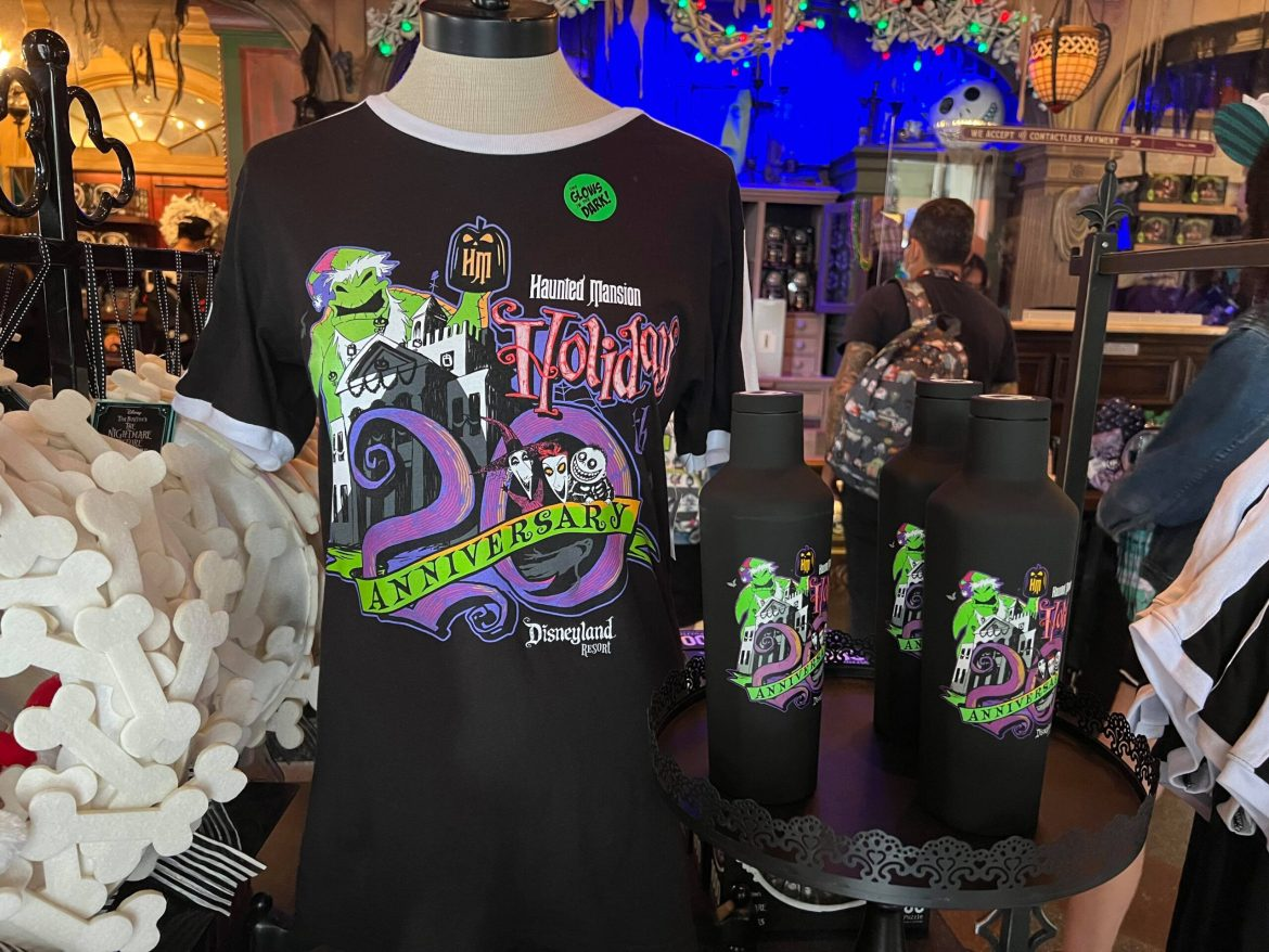New Haunted Mansion Holiday 20th Anniversary Merch materializes in Disneyland