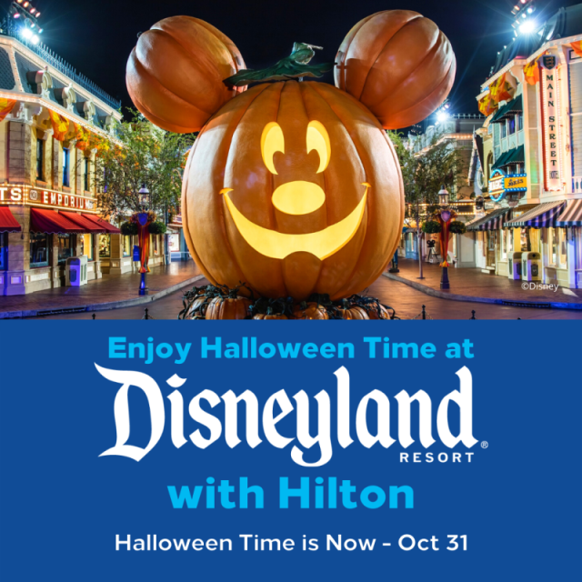 Special offer to kick off Halloween at the Disneyland Resort from Hilton 2