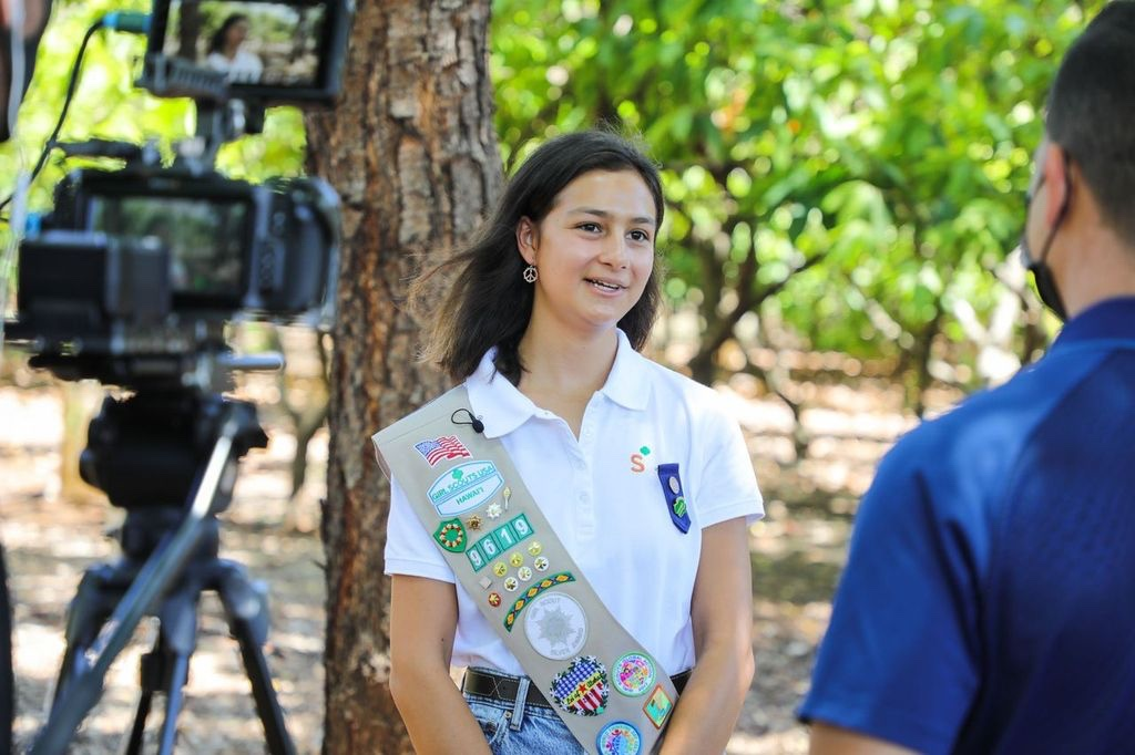 Disney & Dole Honor Girl Scout Hawaii Winner For Her Courage And Kindness!