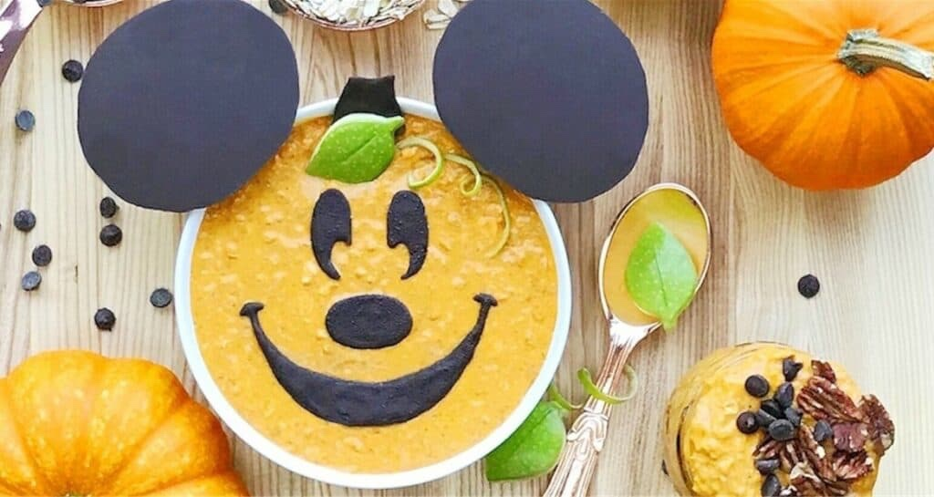 Mickey Pumpkin Overnight Oats To Start Your Day In A Magical Way!