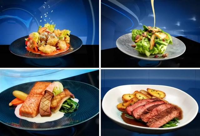 Space 220 restaurant menu