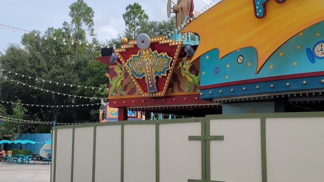 Walls Are Up Around Primeval Whirl in Disney's Animal Kingdom 5