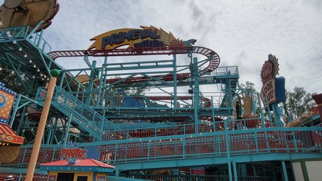 Walls Are Up Around Primeval Whirl in Disney's Animal Kingdom 3
