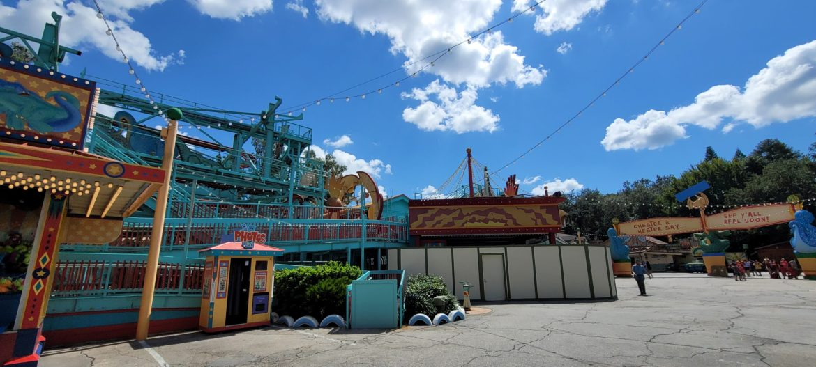 Demolition continues on Primeval Whirl in the Animal Kingdom