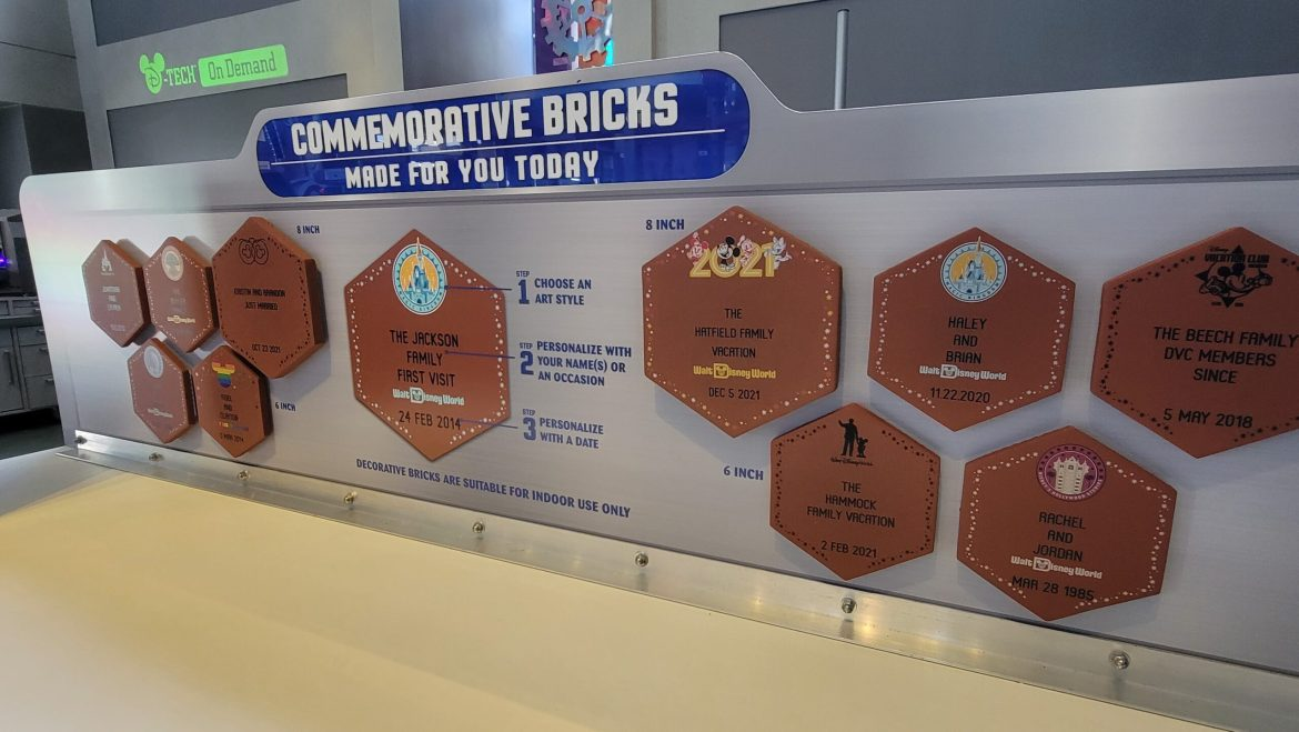 New Commemorative Brick options now available at the Magic Kingdom