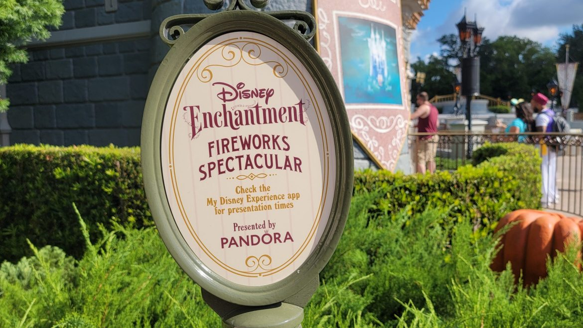 Sign for Disney Enchantment now replaces Happily Ever After in the Magic Kingdom