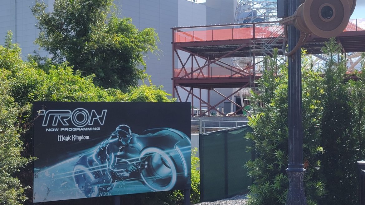 Take a look at the construction going on for Tron Lightcycle Run
