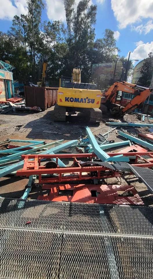 Primeval Whirl in Disney's Animal Kingdom demolition progress 4