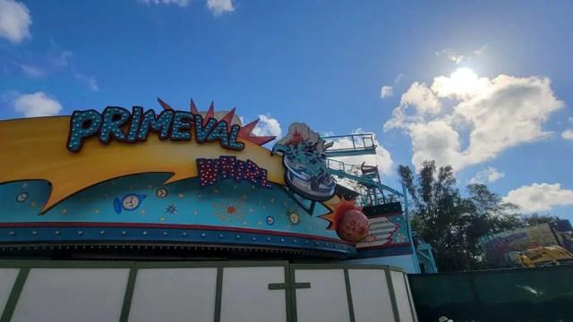 Primeval Whirl in Disney's Animal Kingdom demolition progress 3