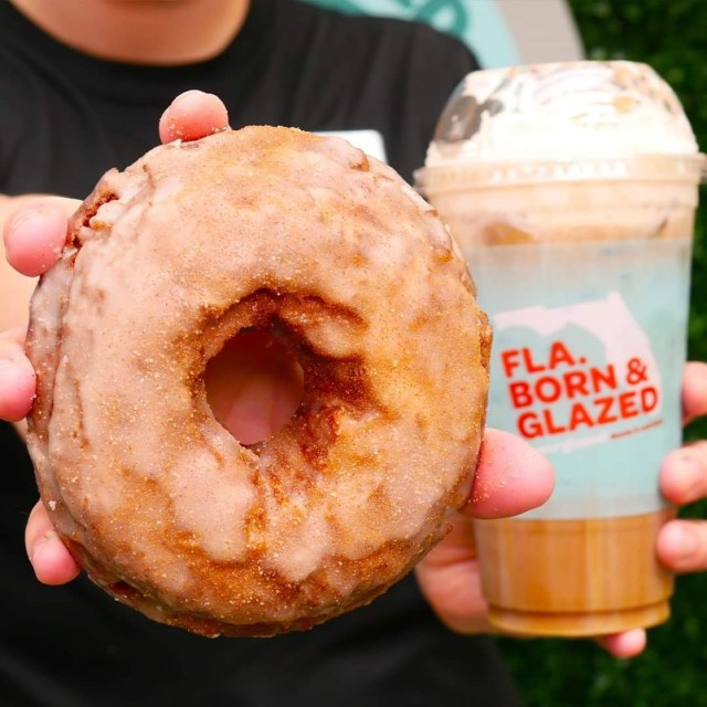 Pumpkin Donut and Cold Brew are a perfect fall treat at Everglazed Donuts 3