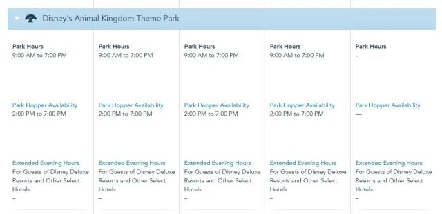 Disney World Theme Park Hours Available Through December 15 5