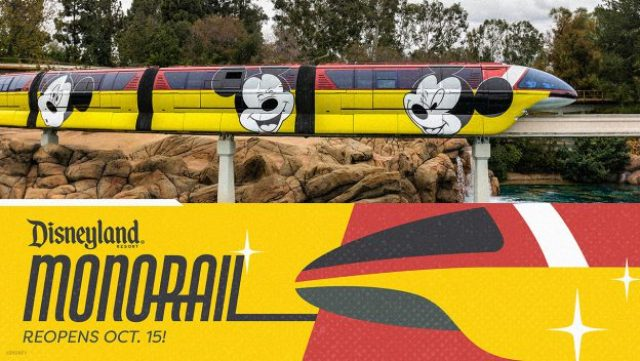 Disneyland Monorail to return to service on October 15th 2