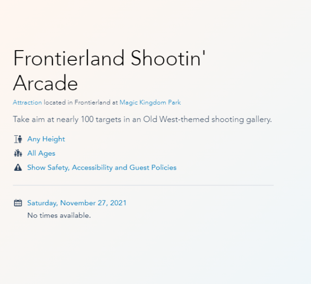 Frontierland Shootin' Arcade closing once again next month 2
