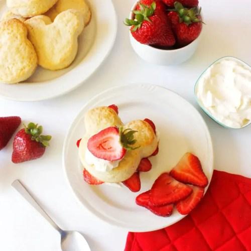 Mickey strawberry shortcake