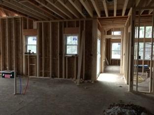 Kitchen & Hallway to the master bedroom