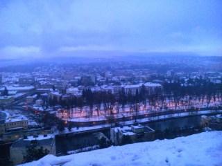 Vedere de pe Belvedere în iarnă