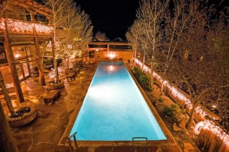 Best places to stay in Colorado Resort Hot pool evening