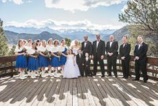Winter Wedding Party at Reservoir