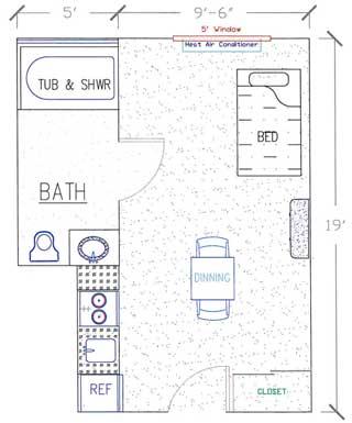 Studio Floor Plan Ada Compliant