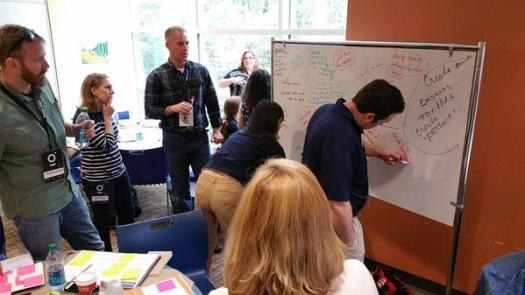 "Coaching the Blue Crew ""Charlie"" through our design thinking challenge. Our goal was to help the Urban League of Greater Atlanta and the Mary Hall Freedom House in their partnership to move individuals from recovery or poverty to the middle class...along their highway of hope."