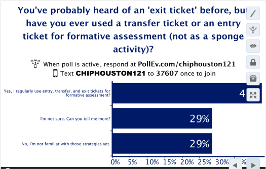 Entry Ticket as Formative Assessment