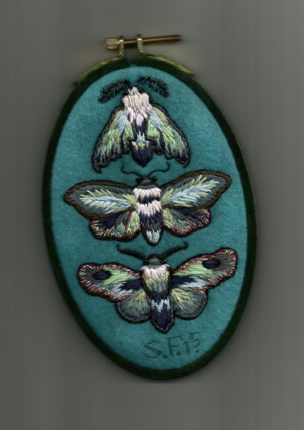 Moth Embroidery by Suzanne Forbes