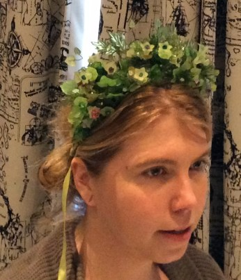 crystal leaf crown by Suzanne Forbes 2016
