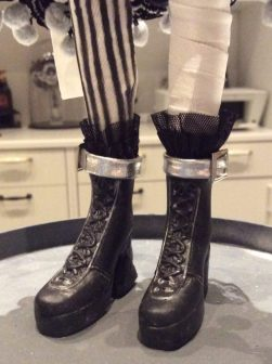 Suzanne Forbes Sideshow Bride of Frankenstein custom doll boots