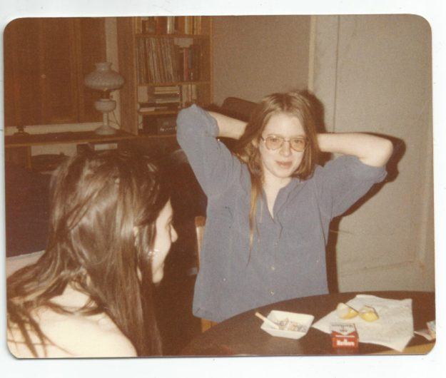 Me age 15, with Paul, winter 1982