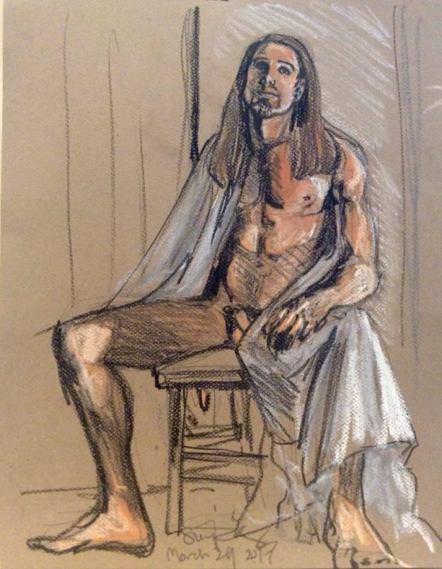 Oskar seated 35 min by Suzanne Forbes March 24 2017