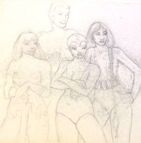 New Mutants core four 1984 or 1985 by Rachel Ketchum