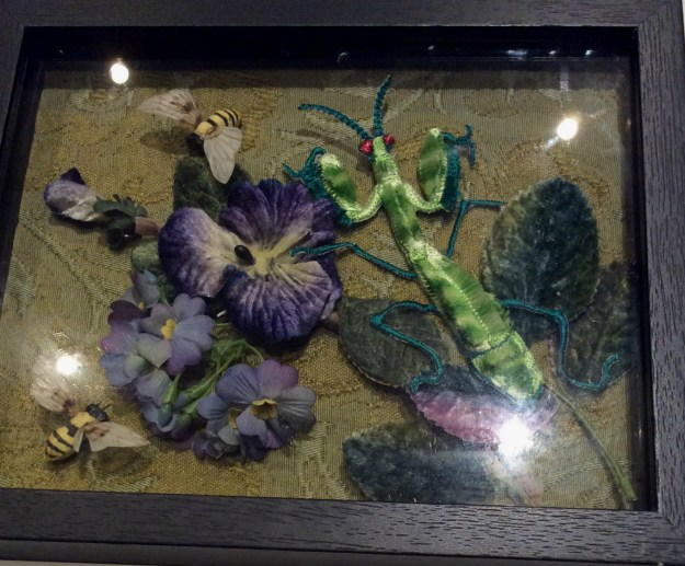 mantis bricolage shadowbox by Suzanne Forbes Oct 2017