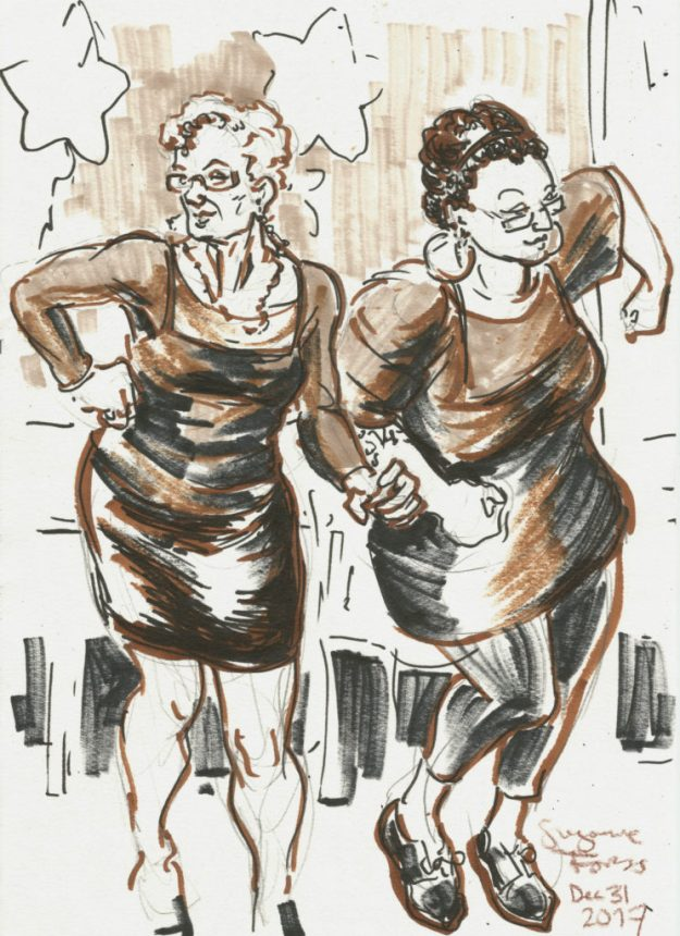 Women dancing at Lagari by Suzanne Forbes Dec 31 2017