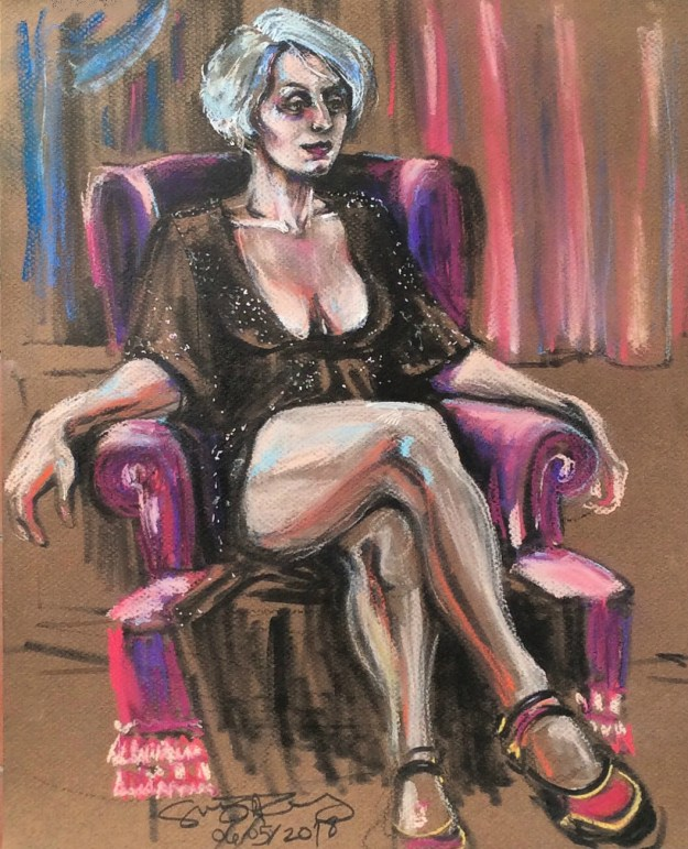 E Pastel Portrait by Suzanne Forbes May 6 2018 edit