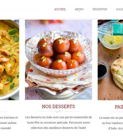 Site Web - Restaurant Le Kashmir Cannes