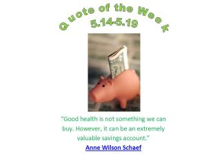 chippewa falls, wi chiropractor healthy quote of the week 5.14 - 5.19